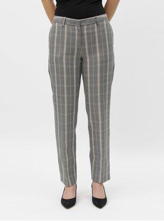 Šedé straight kostkované kalhoty Dorothy Perkins