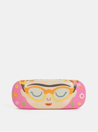 Ružové puzdro na okuliare s motívom Sass&Belle Boho Fiesta
