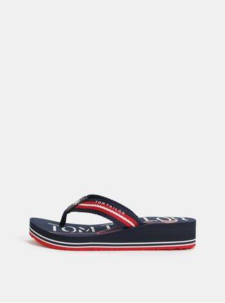 Papuci flip-flop albastru inchis Tom Tailor