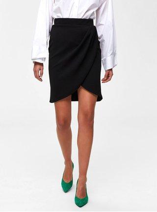 Čierna sukňa s riasením Selected Femme Vira