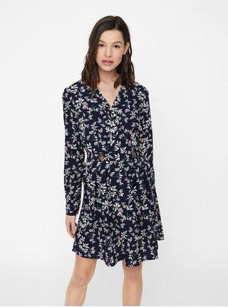 Tmavě modré květované šaty VERO MODA Viola 63d931418b1