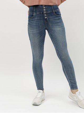 Modré skinny džíny s vysokým pasem TALLY WEiJL Voky
