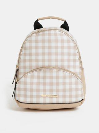 Bílo-béžový kostkovaný batoh Bessie London