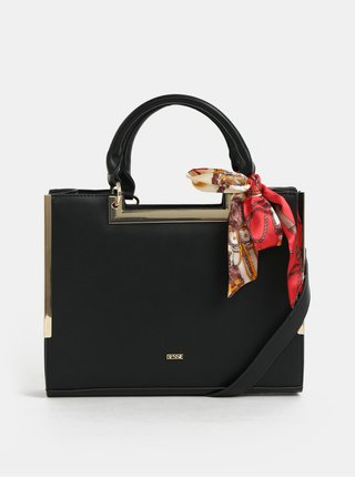 Čierna kabelka so šatkou Bessie London