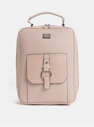 Svetloružový batoh Bessie London