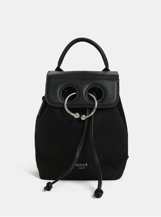 Černý batoh v semišové úpravě Bessie London