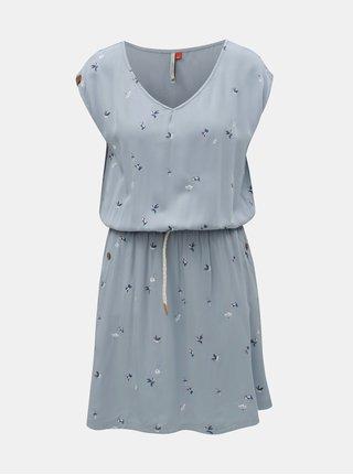 Svetlomodré šaty s motívom a vreckami Ragwear Carolina