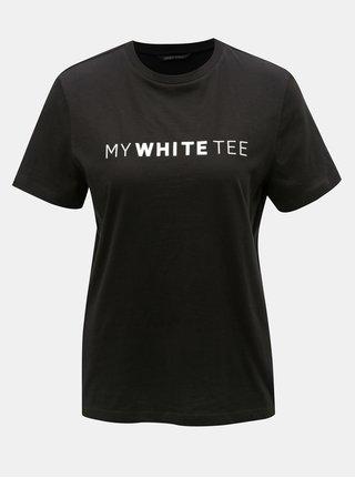 Tricou negru cu imprimeu ONLY Charlie