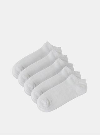 Balenie piatich párov bielych nízkych ponožiek Burton Menswear London