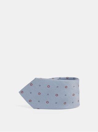 Modrá vzorovaná kravata Jack & Jones Roth