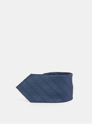 Tmavě modrá vzorovaná kravata Jack & Jones Roth