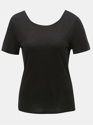 Černé tričko s krajkovými detaily ONLY Flovely