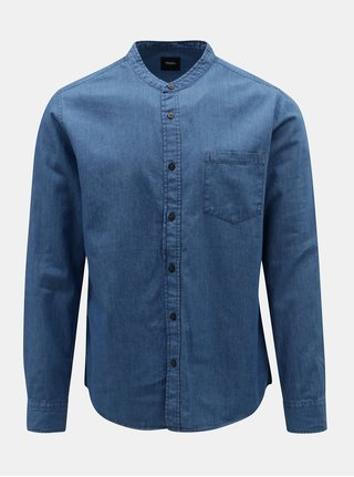 Camasa albastra din denim Burton Menswear London