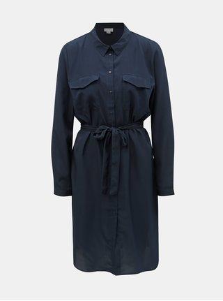 Tmavomodré košeľové šaty Jacqueline de Yong Iben