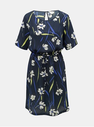 Rochie albastru inchis florala Jacqueline de Yong Innes