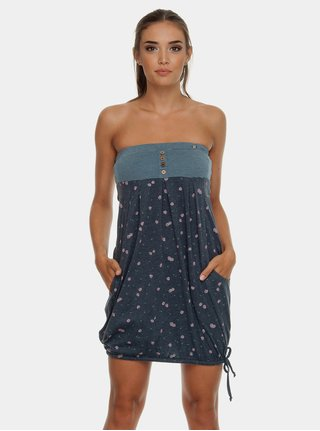 Tmavě modré balónové šaty s odhalenými rameny Ragwear Scene