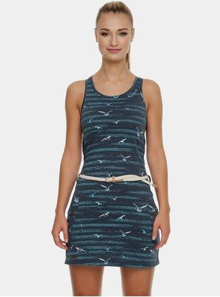 Tmavomodré šaty s vreckami Ragwear Kesy