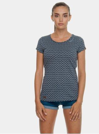 Modré dámské vzorované tričko Ragwear Mint