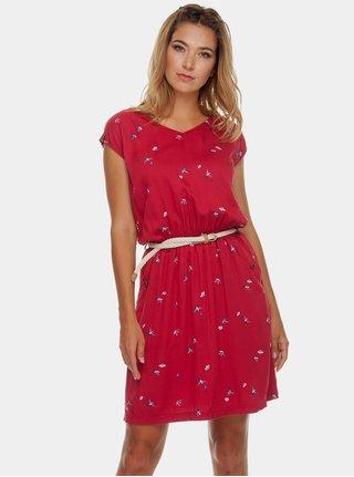 Červené šaty s vreckami Ragwear Carolina