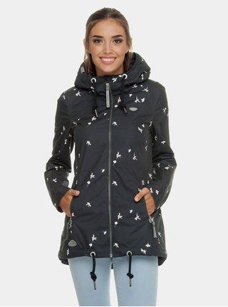 Čierna dámska bunda s motívom Ragwear Zuzka