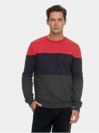 Červeno-šedá pánská mikina Ragwear Dotte