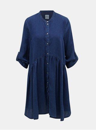 Tmavě modré džínové šaty ONLY Chicago