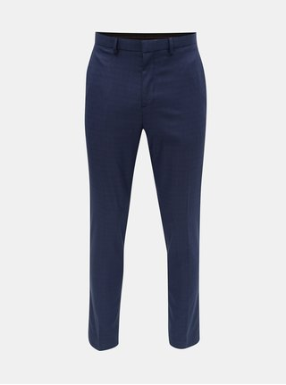 Pantaloni albastri in carouri skinny fit Burton Menswear London
