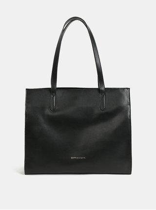 Čierna kožená kabelka Smith & Canova Maral