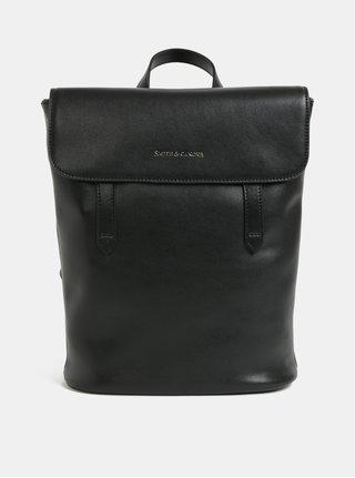Černý kožený batoh Smith & Canova Miza