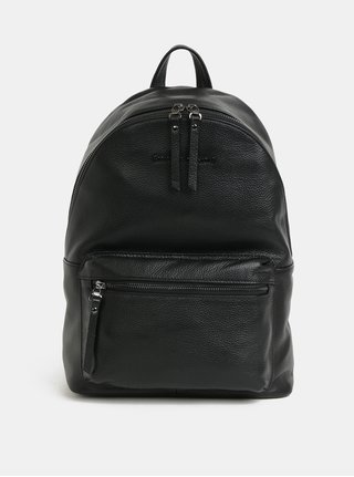 Černý kožený batoh Smith & Canova Marnie