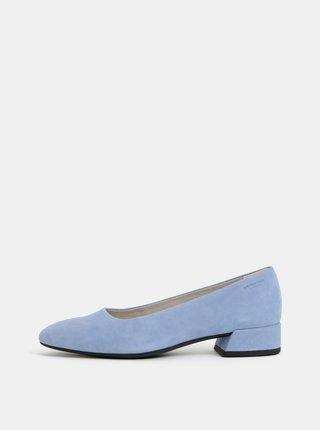 Pantofi albastri din piele intoarsa cu toc mic Vagabond Joyce