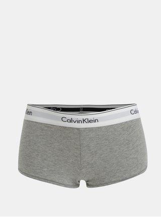 Boxeri gri melanj cu banda lata si logo pentru femei - Calvin Klein Underwear