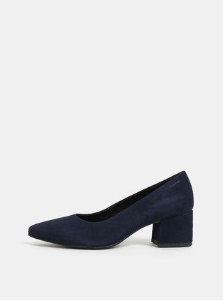Pantofi albastru inchis din piele intoarsa Vagabond Mya