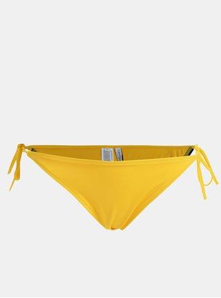 Slip de baie galben cu snururi laterale si logo -  Calvin Klein Underwear