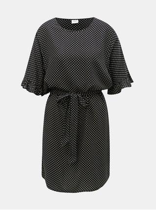 Čierne bodkované šaty Jacqueline de Yong Iggy