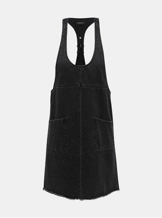 Tmavosivé rifľové šaty ONLY Tenna