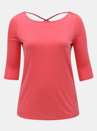 Ružové tričko s 3/4 rukávom ONLY CARMAKOMA Marie