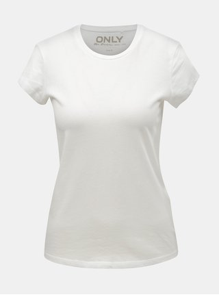 Bílé basic tričko ONLY Cate