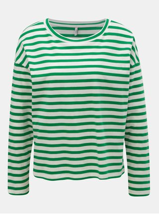 Tricou alb-verde in dungi ONLY Brave