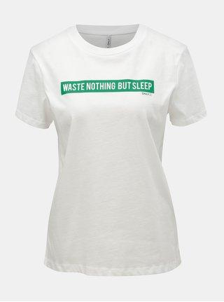 Tricou alb cu imprimeu ONLY Sense