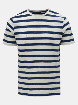 Tricou albastru-alb in dungi ONLY & SONS Elky