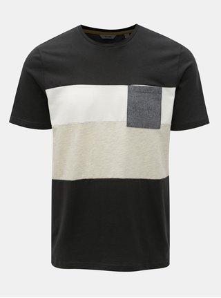 Tmavě šedé tričko s náprsní kapsou ONLY & SONS Erik