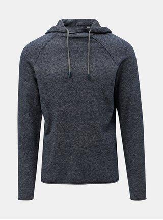 Tmavomodrý melírovaný sveter s kapucňou ONLY & SONS Alexo