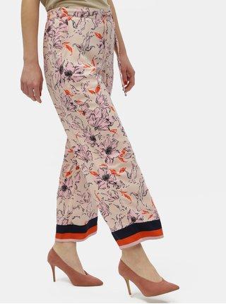 Růžové květované kalhoty Jacqueline de Yong Yadira