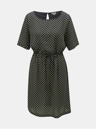 Tmavomodré vzorované šaty Jacqueline de Yong
