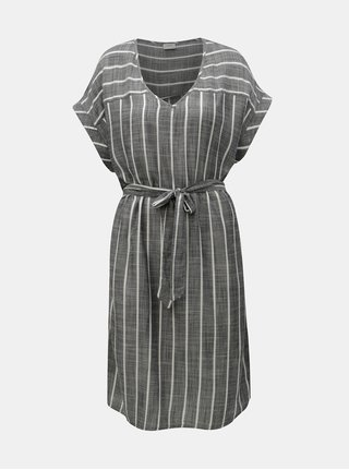 Sivé pruhované šaty Jacqueline de Yong Janine
