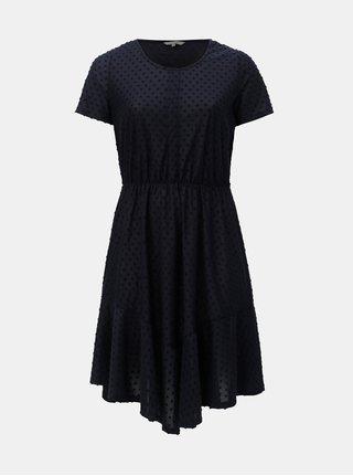 Modré bodkované šaty ONLY CARMAKOMA Didde