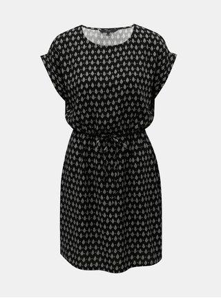 Čierne vzorované šaty VERO MODA Simply