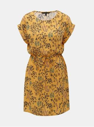 Oranžové květované šaty VERO MODA Simply 2a84850ced9