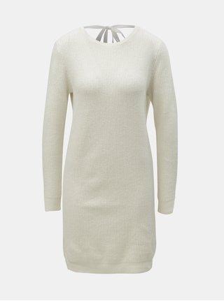 Krémové svetrové šaty VERO MODA Doffy